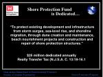 shore protection fund is dedicated