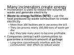 many incinerators create energy