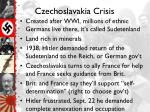 czechoslavakia crisis