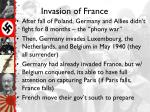 invasion of france
