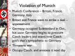 violation of munich