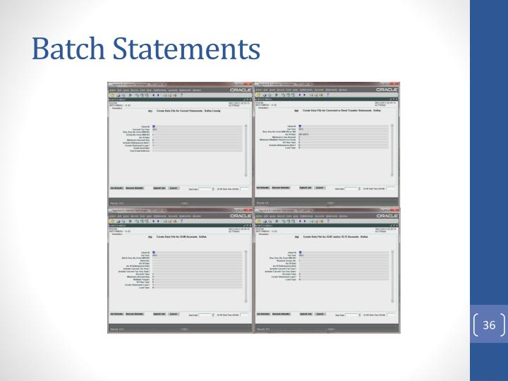 Batch Statements