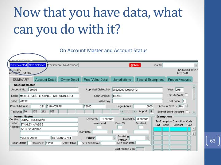 Now that you have data, what can you do with it?