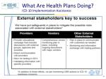 what are health plans doing icd 10 implementation assistance