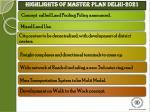highlights of master plan delhi 2021