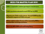 need for master plan 2021