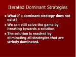 iterated dominant strategies