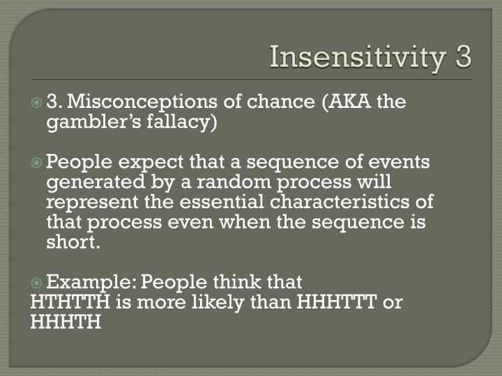 Insensitivity 3
