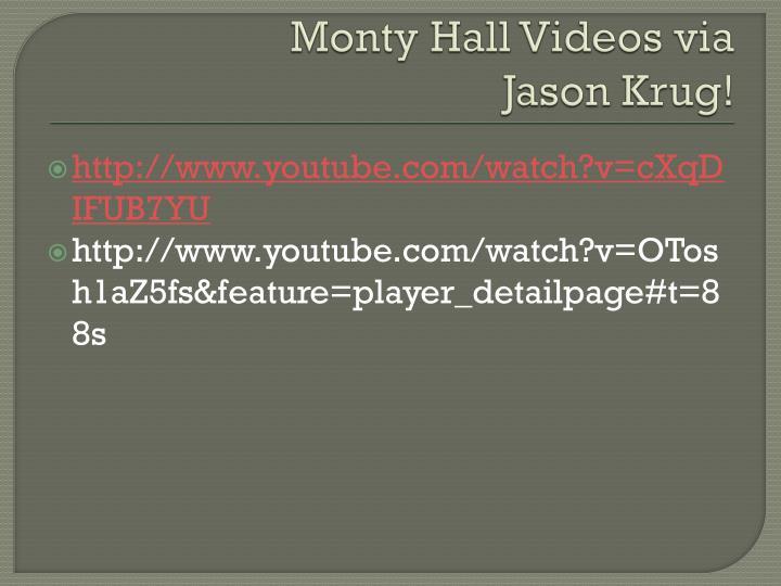 Monty Hall Videos via
