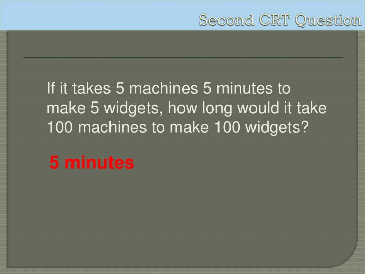 Second CRT Question
