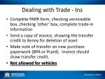 dealing with trade ins