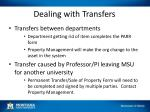 dealing with transfers