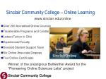 sinclair community college online learning
