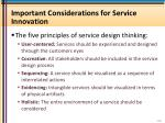 important considerations for service innovation1