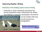 improving quality writing