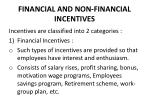 financial and non financial incentives