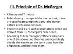 iii principle of dr mcgregor