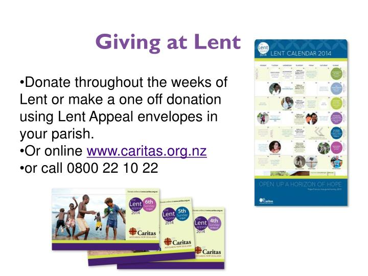 Giving at Lent