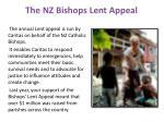 the nz bishops lent appeal