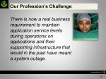 our profession s challenge