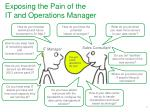 exposing the pain of the it and operations manager