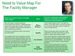 need to value map for the facility manager
