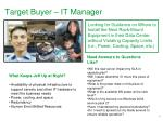 target buyer it manager