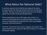 what about the national debt
