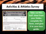 activities athletics survey