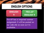 english options