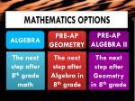 mathematics options