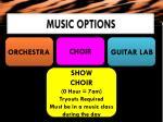 music options