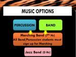 music options1