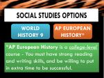social studies options