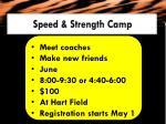 speed strength camp