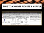 time to choose fitness health