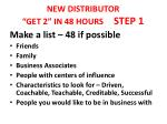 new distributor get 2 in 48 hours step 1
