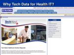 why tech data for health it1