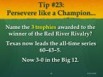 tip 23 persevere like a champion
