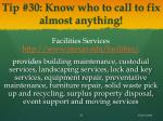 tip 30 know who to call to fix almost anything