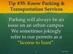 tip 35 know parking transportation services
