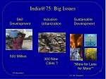 india@75 big issues