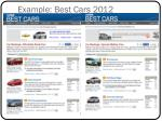 example best cars 2012