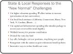 state local responses to the new normal challenges
