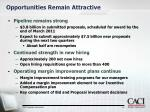 opportunities remain attractive
