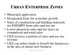 urban enterprise zones