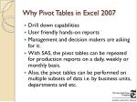 why pivot tables in excel 2007