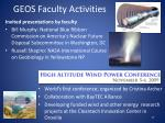 geos faculty activities