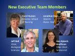 new executive team members