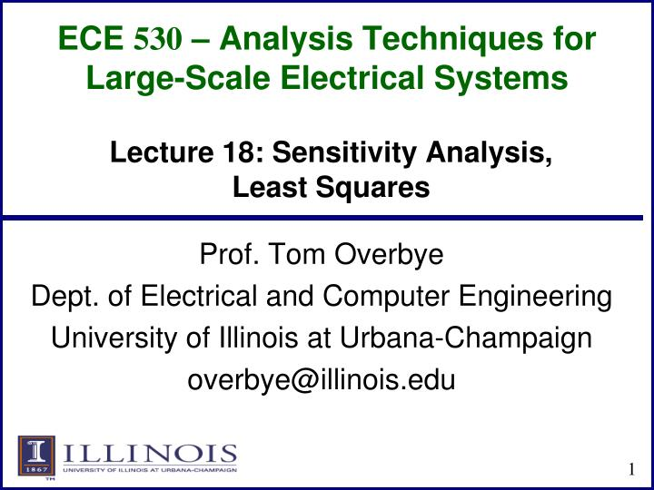 ece 530 analysis techniques for large scale electrical systems n.